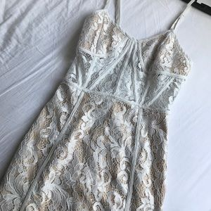 PrettyLittleThing White Lace Dress